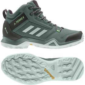 adidas TERREX AX3 Mid Gore-Tex Zapatillas Senderismo Mujer, Azul petróleo/negro